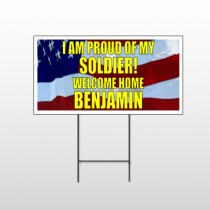 Flag 57 Wire Frame Sign
