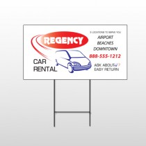 Rental Car 39 Wire Frame Sign