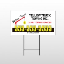 Towing 125 Wire Frame Sign