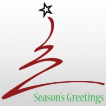 "Season's Greetings Tree 24""H x 24""W"