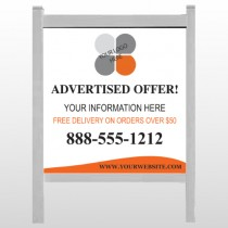 """Advertised Offer 150 48""""H x 48""""W Site Sign"""