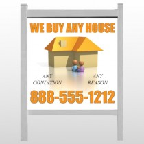 "Animated House Family 251 48""H x 48""W Site Sign"