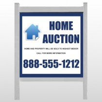 "Blue House Auction 253 48""H x 48W Site Sign"
