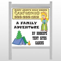 """Campground 144 48""""H x 48""""W Site Signs"""