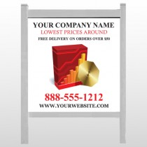 """CD & Graph 147 48""""H x 48""""W Site Sign"""