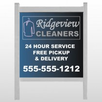"Dry Cleaners 24 48""H x 48""W Site Sign"