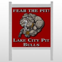 "Fear Dog Mascot 51 48""H x 48""W Site Sign"