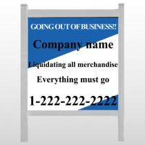 "Going Out Sale 11 48""H x 48""W Site Sign"