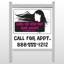 """Hair 130 48""""H x 48""""W Site  Sign"""