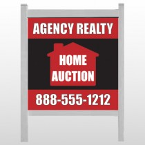 "Red House Auction 252 48""H x 48""W Site Sign"