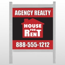 "Red House Rent 360 48""H x 48""W Site Sign"