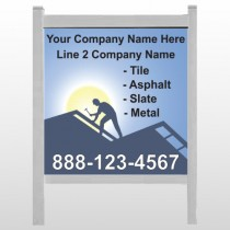 "Roofing 258 48""H x 48""W Site Sign"