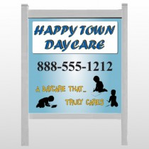 "True Happy Care 182 48""H x 48""W Site Sign"