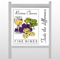 "Wine 145 48""H x 48""W Site Sign"