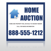 Blue House Auction 253 Site Sign