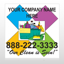 Cleaning Supplies 451 Custom Sign
