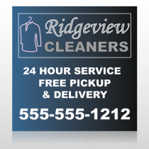 Drycleaners  24 Custom Sign