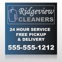 Dry Cleaners 24 Custom Banner