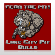 Fear Dog Mascot 51 Floor Decal