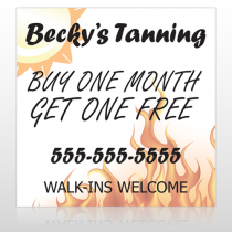 Flaming Sun Tan 298 Custom Banner