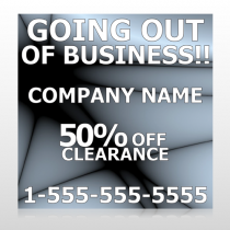 Gray Going Out of Business Sale 12 Site Sign
