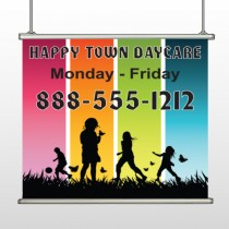 Happy Town 181 Hanging Banner