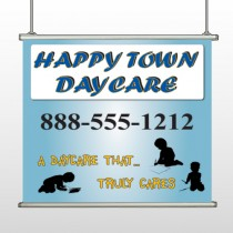 True Happy Care 182 Hanging Banner