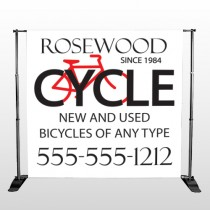 Bike Shop 33 Pocket Banner Stand