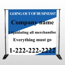 Going Out Sale 11 Pocket Banner Stand