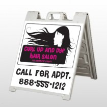 Hair 130 A Frame Sign