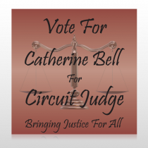 Vote Scale Judge 264 Custom Sign