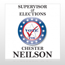 Vote Supervisor Elect Star 272 Custom Sign