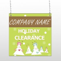 Holiday Clearance 13 Window  Sign