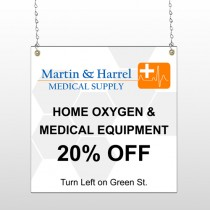 Home Oxygen 139 Window Sign