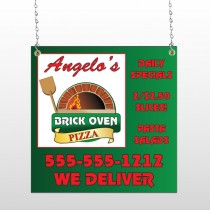 Pizza 129 Window Sign