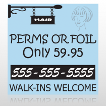 Woman Hair Sign 289 Custom Banner