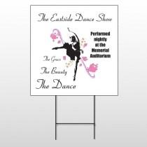 Ballet Dance 517 Wire Frame Sign