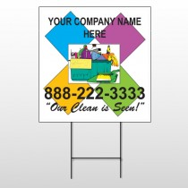 Cleaning Supplies 451 Wire Frame Sign