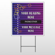 Purple Stripes 142 Wire Frame Sign