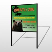 Bear Zoo 302 H-Frame Sign
