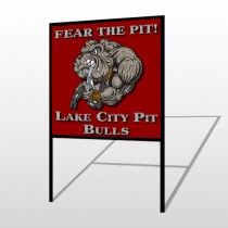 Fear Dog Mascot 51 H-Frame Sign