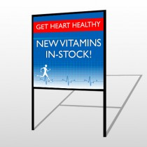 Heart Healthy 140 H-Frame Sign