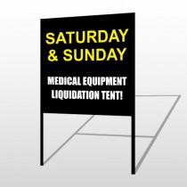 Medic Liquidation 331 H-Frame Sign