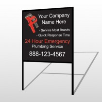 Monkey Wrench 257 H-Frame Sign