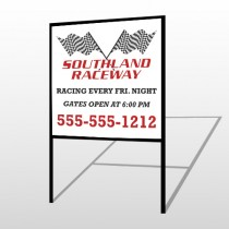 Racetrack 31 H-Frame Sign