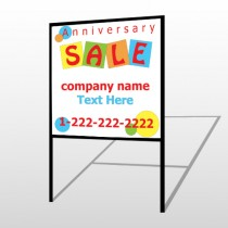 Square Circle Sale 15 H-Frame Sign