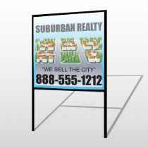 Suburbs 248 H-Frame Sign