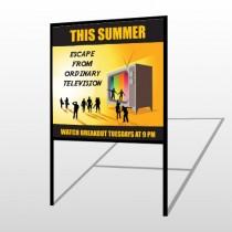 Television 525 H Frame Sign