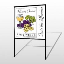 Wine 145 H Frame Sign