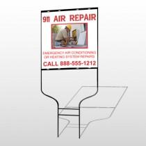 AC Repair 251 Round Rod Sign